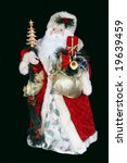 santa figurine - stock photo
