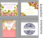 wedding invitation cards with... | Shutterstock .eps vector #196394978