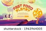 fast food planet cartoon...