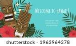 vector image of a hawaiian...   Shutterstock .eps vector #1963964278