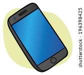 object touchscreen smartphone  | Shutterstock .eps vector #196398425