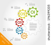 colorful infographic gears in... | Shutterstock .eps vector #196399205
