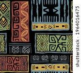 tribal tropical art pattern of... | Shutterstock .eps vector #1964016475