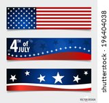 happy independence day card... | Shutterstock .eps vector #196404038