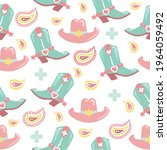 cowboy seamless pattern with...   Shutterstock .eps vector #1964059492
