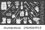 gardening tools and plants or... | Shutterstock .eps vector #1964065915