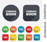 coming soon sign icon.... | Shutterstock .eps vector #196409165