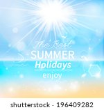summer  seaside view poster.... | Shutterstock .eps vector #196409282