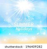 summer  seaside view poster.... | Shutterstock .eps vector #196409282
