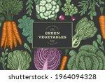 hand drawn vintage color... | Shutterstock .eps vector #1964094328