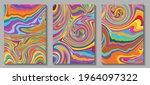 fluid art. modern artwork mesh... | Shutterstock .eps vector #1964097322