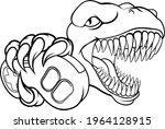 a dinosaur t rex or raptor...   Shutterstock .eps vector #1964128915