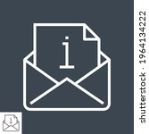mail with info sign thin line... | Shutterstock .eps vector #1964134222