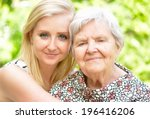 grandmother and granddaughter.... | Shutterstock . vector #196416206