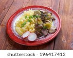 radiatori   pasta  italian... | Shutterstock . vector #196417412