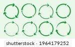 green of paper round sticker... | Shutterstock .eps vector #1964179252