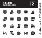 icon set sales made with glyph...