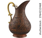 Copper Object Engraved Old Ewer ...