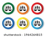 scales icon  set of circle... | Shutterstock .eps vector #1964264815