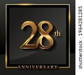 28th anniversary logo golden...   Shutterstock .eps vector #1964281285