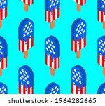 usa ice cream pattern seamless. ... | Shutterstock .eps vector #1964282665