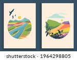 abstract colourful landscape... | Shutterstock .eps vector #1964298805