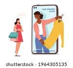 professional shopper female... | Shutterstock .eps vector #1964305135
