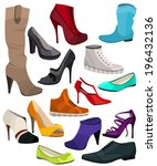 women's fashion collection of... | Shutterstock .eps vector #196432136