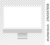 computer blank screen mockup ... | Shutterstock .eps vector #1964347858