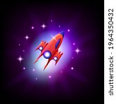 ufo alien spaceship on the...