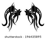 graphic design tribal tattoo... | Shutterstock .eps vector #196435895