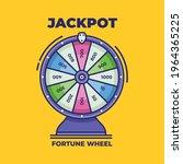 spinning fortune wheel. lucky...   Shutterstock .eps vector #1964365225