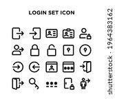 login set icon pixel perfect