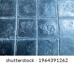 the walls are covered with blue ...   Shutterstock . vector #1964391262