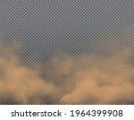 brown dust  sand or dirt vector ... | Shutterstock .eps vector #1964399908
