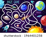 space labyrinth maze game for... | Shutterstock .eps vector #1964401258