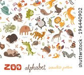 Seamless Pattern Abc Zoo