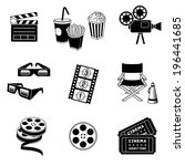 complete set of cinema and... | Shutterstock .eps vector #196441685