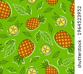 summer seamless pattern with... | Shutterstock .eps vector #1964523952