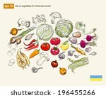 vector illustration set of... | Shutterstock .eps vector #196455266