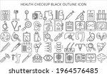 thin line icons set of health...