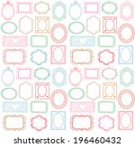 colorful seamless doodle frame... | Shutterstock . vector #196460432