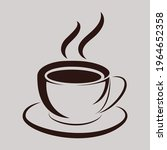 coffee cup icon. hot coffee... | Shutterstock .eps vector #1964652358