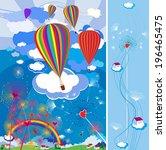 balloons. children's... | Shutterstock .eps vector #196465475