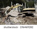 Giant Bulldozer  Digger In...