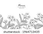seamless pattern plumeria... | Shutterstock .eps vector #1964713435