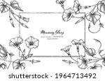 morning glory flower and leaf... | Shutterstock .eps vector #1964713492