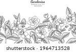 seamless pattern gardenias... | Shutterstock .eps vector #1964713528