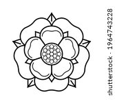 tudor rose vector isolated icon.... | Shutterstock .eps vector #1964743228