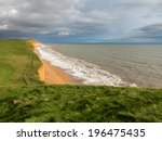 cliff top path along the... | Shutterstock . vector #196475435
